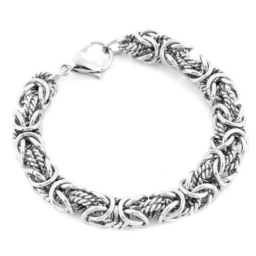 Stainless Steel Byzantine Unisex Bracelet