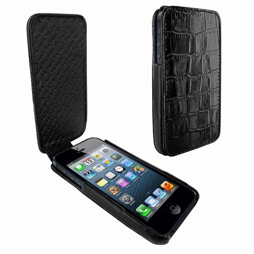 Special Sale Apple iPhone 5 / 5S Piel Frama iMagnum Black Crocodile Leather Cover
