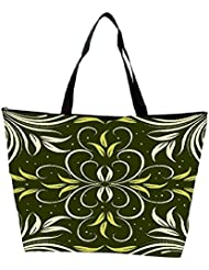 Snoogg Seamless Floral Pattern Abstract Background Waterproof Bag Made Of High Strength Nylon - B01I1KK8CU