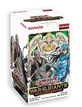 Konami YGO-WGR de–Jeu de cartes–Yu-Gi-Oh–War of the Giants de forcement 10pur Il Booster Écran, Allemand