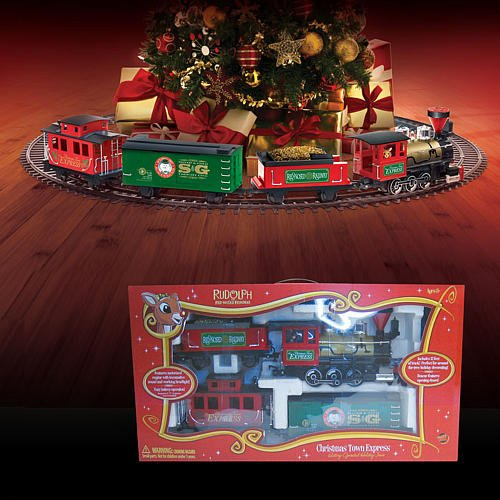 cheap rudolph the red nose reindeer christmas town express train set discount review shop