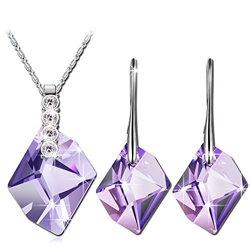 qianse-white-gold-plated-jewelry-sets-made-with-purple-swarovski-elements-crystal