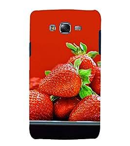 Vizagbeats Strawberry Back Case Cover for Samsung Galaxy J7::Samsung J7 2015