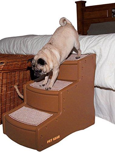 Artikelbild: Pet Gear Easy Step III Steighilfe/Treppe für Hunde, mittelgroß, Kakao/Beige