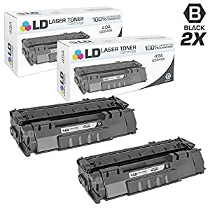 LD © Compatible Replacement for HP 49A / Q5949A Black Laser Toner Cartridge for LaserJet 1160, 1160Le, 1320, 1320n, 1320nw, 1320t, 1320tn, 3390, and 3392