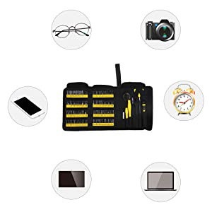 Precision Screwdriver Set with Magnetic Driver Kit, KER 126 in 1 Professional Electronics Repair Tool Kit for PC, Glasses, Mobile Phone, Laptop, iPhone, Watch, Tablet, iPad, MacBook with Portable Bag (Color: Black)