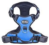Best Front Range No-Pull Dog Harness.Reflective Outdoor Adventure Pet Vest with Handle. Medium