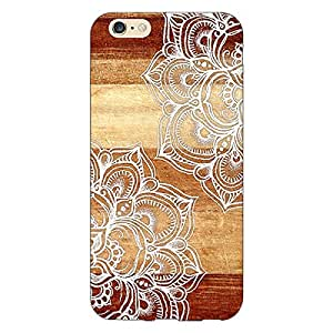Jugaaduu White Brown Doodle Pattern Back Cover Case For Apple iPhone 6 Plus