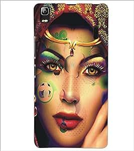 PrintDhaba Beautiful Face D-5453 Back Case Cover for LENOVO A7000 PLUS (Multi-Coloured)