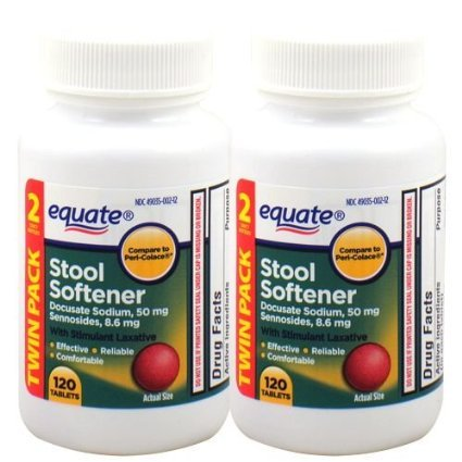 Equate - Stool Softener with Stimulant Laxative, 240 Tablets