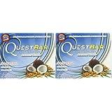 Quest Bar Coconut Cashew, 12-2.12 oz. Bars (Pack of 2)