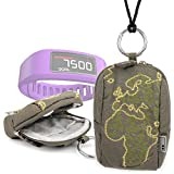 DURAGADGET Limited Edition Stylish Explorer Green 'Outline' Travel Bag With Easy Carry Loop for Garmin Vivofit Wireless Fitness Wrist Band and Activity Monitor / Garmin Forerunner 910XT GPS Watch / Garmin VivoFit 2 / Fenix 3 / Epix / Vivoactive / Forerun