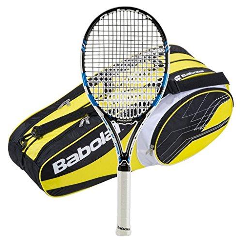 Babolat 2015-2016 Pure Drive Plus Tennis Racquet - STRUNG with 6 Racquet Bag