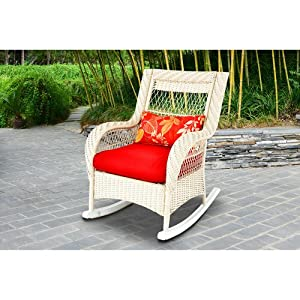 Woven Porch Rocking Chair, White