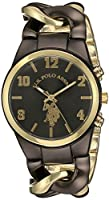 U.S. Polo Assn. Women's USC40177 Analog Display Analog Quartz Two Tone Watch