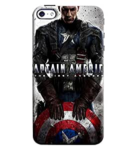 Blue Throat Captain America The First Avengure Hard Plastic Printed Back Cover/Case For Apple iPhone 4s