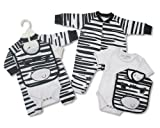 Fantastic Baby 3pc cotton Zebra set by Nursery Time - 3-6 months