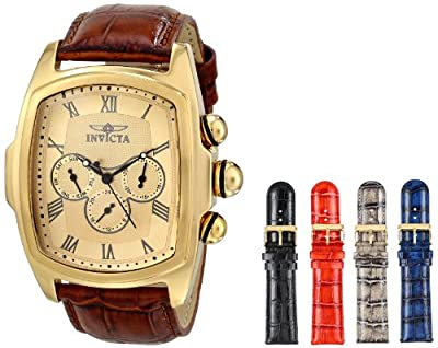 Invicta Men's 12646 Lupah Analog Display Swiss Quartz Brown Watch
