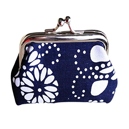Purse,Mikey Store Women Lady Retro Vintage Flower Small Wallet Hasp Purse Clutch Bag (Blue 2) (Blue Store compare prices)