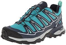 Salomon Women\'s X Ultra 2 GTX Hiking Shoe, Peacock Blue/Deep Blue/Lucite Green, 6 M US