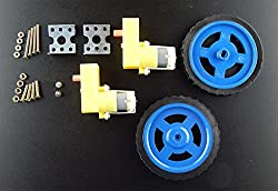 BO Motor 100 RPM (2 Pcs) + BO Wheel (2 Pcs) + BO Motor Clamp + Nuts Bolts ( 8 Sets) + Screws (2 Pcs) with user manual