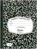 Ischolar Inc. Marble Composition Notebook Black, 150-Sheets (12-Pack)