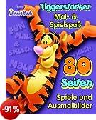 Tiggerstarker Mal- & Spielspaß: 80 Seiten Spiele & Ausmalbilder