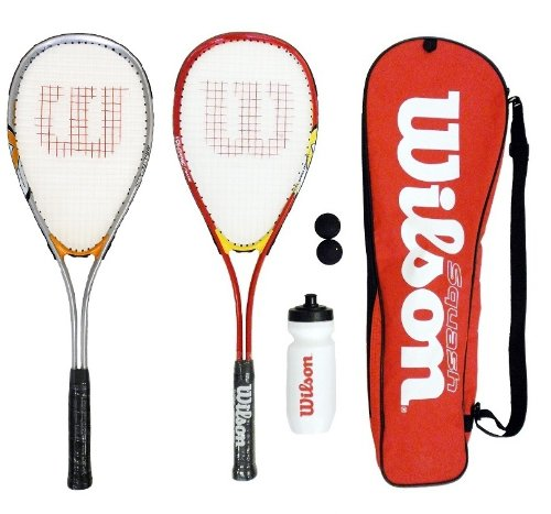 2 x Wilson Hyper Team 300 Squash Racket Set RRP £80 red & silver