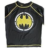 Batman Big Boys Black Stretchy Printed Swim Wear T-Shirt 8-10