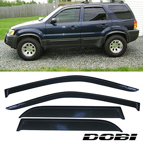 VioGi Fit: 01-07 Ford Escape 4pcs Front + Rear Smoke Sun/Rain Guard Vent Shade Window Visors (Ford Escape Rear Window Shades compare prices)