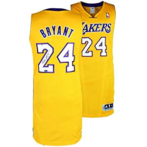 Kobe Bryant Los Angeles Lakers Autographed adidas Authentic Gold Jersey - Mounted...