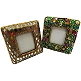 Indian Home Decor Picture Frames Decorative Table Top Antique Vintage Style Beaded Material Handcrafted Photo... - B01HI93EIA