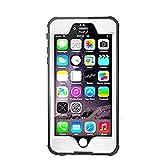 iPhone 6S Plus 5.5インチ 防水ケース PopSky™ 全4色 ゴム製の防水、防塵、衝撃防止ケース (iPhone 6S Plus, ホワイト)