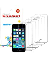6X Film Protection iPhone 5s iphone 5 Protection d'écran iPhone 5 avec traitement anti rayure