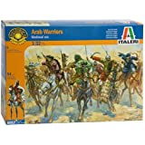 Medieval Era Arab Mounted Warriors (4 Figures w/4Horses) 1/32 Italeri
