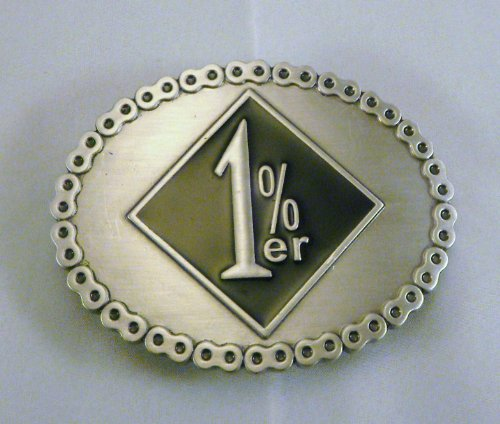 Outlaw 1%er Biker Belt Buckle Black