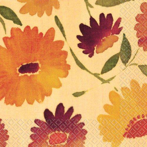 beverage napkins warm floral