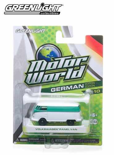 Volkswagen Panel Van (White & Green) * 2014 Motor World * Series 10 German Edition 1:64 Scale Die-Cast Vehicle