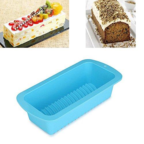 Bluelover Gâteau de silicone Toast Pan Mold Mousse mousseline gâteau Moules Moule