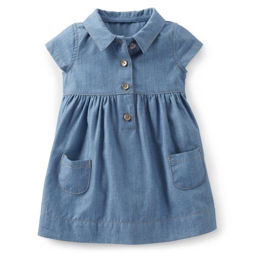 Carter'S Baby Girls' Shirt Dress (Baby) - Chambray - 9 Months