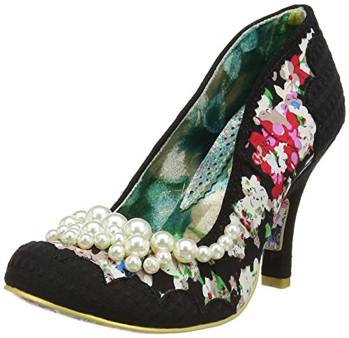 Irregular ChoicePearly Girly - Scarpe con Tacco donna , Nero (Black (Black Floral)), 39 1/3
