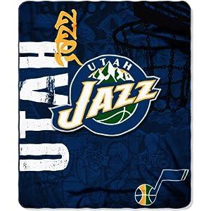 Buy NORTHWEST Utah Jazz Hard Knocks Style Fleece Blanket by Northwest