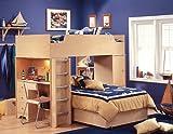 South Shore Shaker Double Loft Bed with Desk - Complete Set
