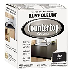Rustoleum Countertop Paint Smell : Rust-Oleum 263209 Countertop Coating Premix, 32-Ounce Kit, Black ...
