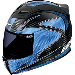 Icon Carbon RR Men's Airframe Sportsbike Motorcycle Helmet - Blue