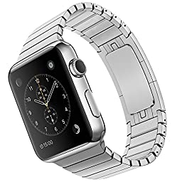 LDFAS Apple Watch Band 38mm Stainless Steel Link Bracelet - Silver