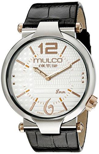 Mulco Uomo MW5-3183-021 Couture Slim Analogico Display Svizzero Quarzo Nero Orologio
