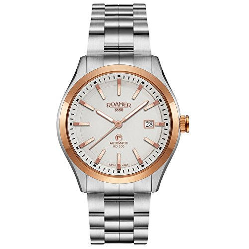 Roamer 951660 SRGM1 RD 100 100 m Stainless Steel Watch Men's Watch Stainless Steel Automatic Analogue Date Silver
