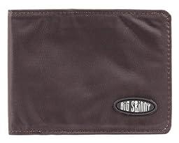 Big Skinny Men\'s Slimline Bi-Fold Slim Wallet, Holds Up to 25 Cards, Brown