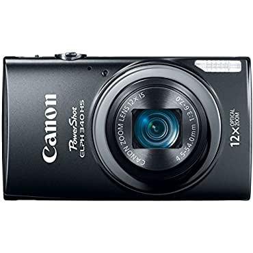 Canon PowerShot ELPH 340 HS 16MP Digital Camera (Black)